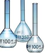 Fioles jaugées en verre
